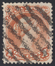 Canada 1c Large Queen Watermarked, Scott 22a, VF used, catalogue - $700