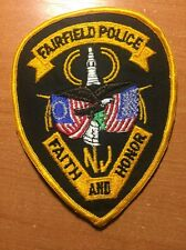 PATCH POLICE FAIRFIELD NEW JERSEY NJ STATE