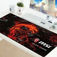 Large Gaming Mouse Mat Pad For Large Desk Keyboard Big Size Extra Dense/Speed