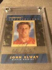 1996 Laserview Inscriptions Auto John Elway /3100