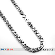 "NEW Men 12mm 24"" Wide Stainless Steel Cuban Curb O Link Chain Necklace Heavy B66"