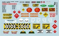 Gofer 11012 Big Rig Truck graphics and warning signs  Decal Sheet 1/24 and 1/25