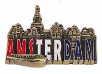 Amsterdam Metall Magnet 8cm Holland Niederlande Souvenir New (15483)