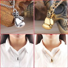 Men's Women's Stainless Steel Boxing Glove Pendant Necklace Chain NW