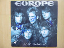 """Europe AUTOGRAFI SIGNED LP-COVER """"Out of This World"""" vinile"""