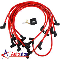 New Red 8.65mm Ultra 40 Spark Plug Wires Set Big Block Chevy BBC 454 502 HEI