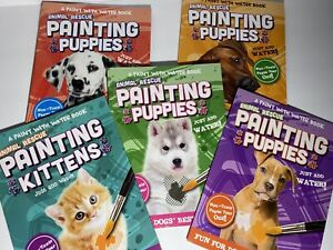 Paint With Water Coloring Books Animal Rescue Lot Of 5