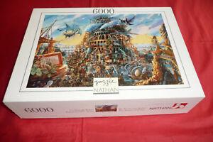 puzzle nathan 6000 pièces La tour de Babel rare complet