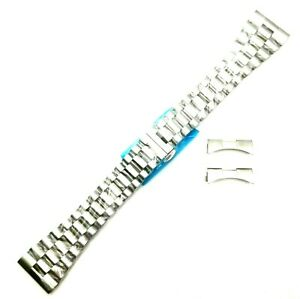 18 20 22 24 26 MM Solid 316 Stainless Steel PRESIDENT SILVER Watch Band Rolex Co