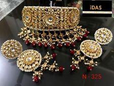 Traditional Kundan Gold Plated Bridal Women Choker Necklace Jewelry Sets