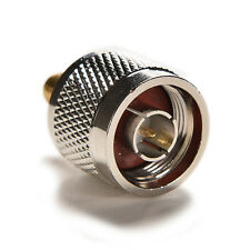 1pc Adapter N plug male to SMA female jack RF connector straight SilverCJX