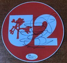 ADAM CLAYTON SIGNED U2 STICKER JSA COA WOW RARE