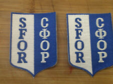 NATO UN SFOR U.S. Canadian U.K. Military Peace Keeping 2-Patches