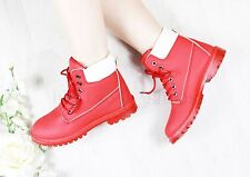 LADIES WOMENS ARMY COMBAT FLAT GRIP SOLE ANKLE BOOTS HIKING WALKING SHOES SIZE