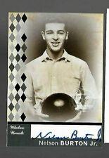 Nelson Burton Jr. PBA autograph by TK Legacy Milestone Moments
