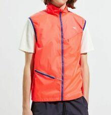 Nwt $50 Diadora Windproof Gilet Running Vest in Fluo Lava sz S