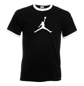 Juko Jordan Ringer T Shirt Basketball Michael Bulls air nba unisex