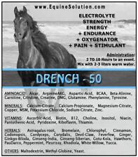 DRENCH-50 - Pre-Race Strength Endurance Oxygenator Pain Stimulant (for Horses)