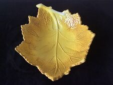 LAURIE GATES LRG LEAF SHAPED IN RELIEF SERVING CENTERPIECE BOWL CERAMIC FALL