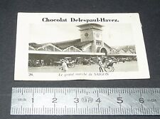 PHOTO CHOCOLAT DELESPAUL-HAVEZ 1950 COLONIES INDOCHINE COCHINCHINE SAIGON Marché
