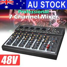Gappio 7 Channel Mixer Live Audio Studio Sound Mixing USB Power Console Karaoke