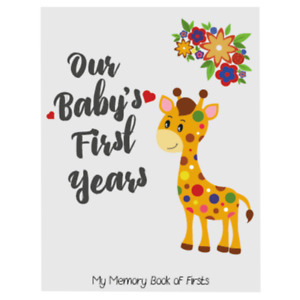 Little Jungle and Farm Animals Lover Baby Memory Book with 48 milestones sticker