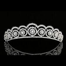Bridal Floral Rhinestones Crystal Pageant Wedding Prom Crown Tiara 7977
