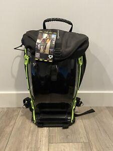 New Demon Flow All Black Green Hardshell Motorcycle Bike Everyday Backpack
