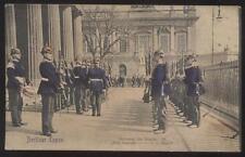 Postcard BERLIN GERMANY  Absolung der Wache Das Gewehr #3 view 1905?