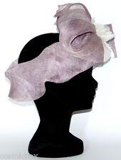 CHAPEAU tailles S / M de cérémonie TOUT EN TÊTE bandeau violet femme mariage hat
