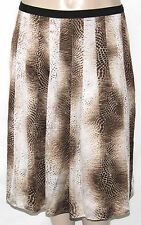 NEW Jones New York Collection Plus 24W Print Pleated A-Line Skirt WALNUT MULTI