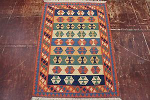 Nomads Kelim Fine Unique Persian Carpet Oriental Rug 1,45 X 1,02