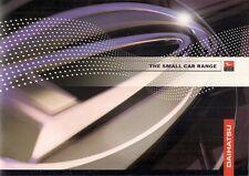 Daihatsu Cuore Sirion Terios 1999-2000 UK Market Sales Brochure