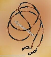 NEW Black & Tortoiseshell Beaded Glasses Spectacle Sunglasses Chain Strap Cord