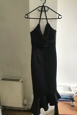 ASOD Black Long Silk Effect Elegant Party dress,Size S!