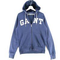 GANT Navy Blue Big Chest Logo Full Zip Hoodie Sweatshirt Size M