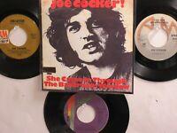 4 JOE COCKER HIT 45's+1P(Copy)[She Came In Thru The Bathroom Window]  60's-80's!