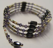 HEMATITE MAGNETIC BEADED DUAL NECKLACE  OR BRACELET Wicca Pagan Witch Goth