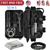 Outdoor Survival Camping Military Gear Kit 11 In 1 Emergency EDC SOS Tools Set