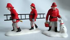"Dept 56 ""Fire Brigade"" Christmas In City Set of 2 ~ #55468 Excellent New w/ box"
