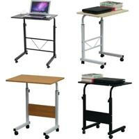 """27-37"""" Height Adjustable Rolling Laptop Desk Cart Over Bed Hospital Table Stand"""