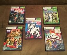 Lot of 5 : Xbox 360 Kinect Video Games