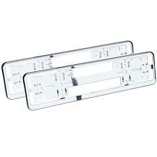 RICHTER 2 Stück Chrom Kennzeichenhalter Schildhalter Nummernschildhalter von HR