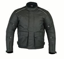 BLACK Waterproof Motorcycle Jacket Textile CE Armours Thermal Motorbike Jackets
