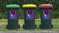 NRL MELBOURNE STORM League Wheelie Garbage Bin Rubbish Sticker House Number Deca