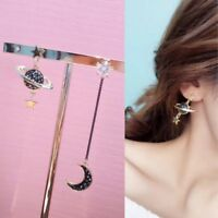 1 Pair Asymmetry Saturn Moon Star Fashion Stud Earrings Ear Stud Saturn Women