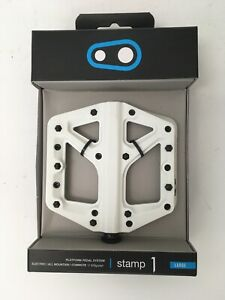 CrankBrothers Stamp 1 MountainBike Pedals - Large - White/Black- SPECIAL EDITION