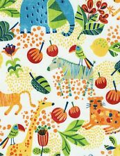 Fun Jungle Animals Cotton Fabric   Timeless Treasures Bright    Bfab