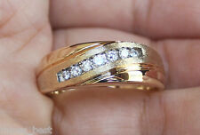 New Kay Jeweler 14K Sz 10 1/4ct Diamond Mens Wedding Band 7g Ring Yellow Gold