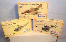 Ho Scale Military Aircraft Model Kits - Roco Minitanks F-4 Phantom Helicopters